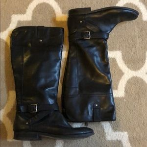 Black Marc Fisher Riding Boots